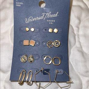 Universal Thread Semi precious earrings 8 pair